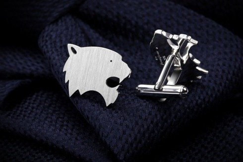 Silver Cuff Links Tiger