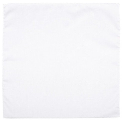 biała poszetka bawełniana