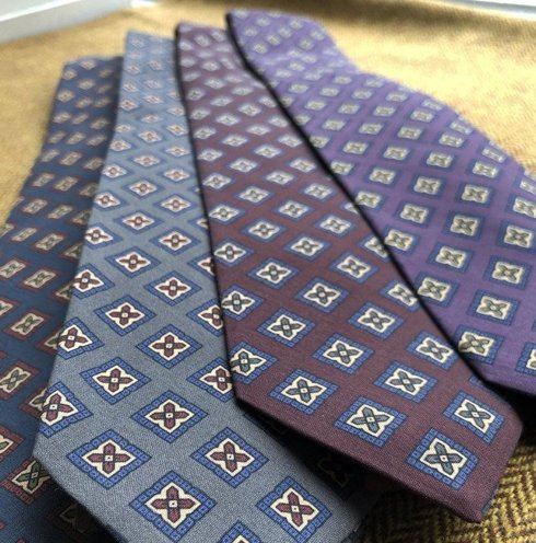 navy ANCIENT MADDER SILK tie