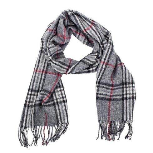 grey cashmere & wool classic scarf