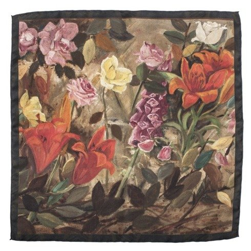 "ARTWORKS COLLECTION Tadeusz Makowski "" Flowers in the garden"" Pocket square"