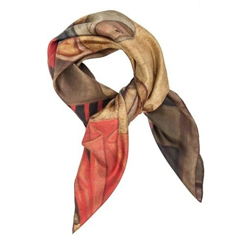 """At the market"" silk scarf"
