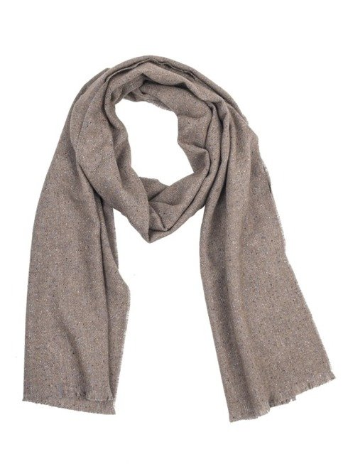 BEIGE DONEGAL SCARF