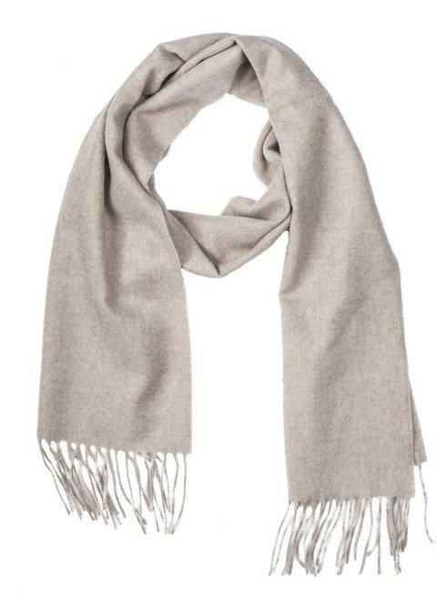 BEIGE cashmere scarf