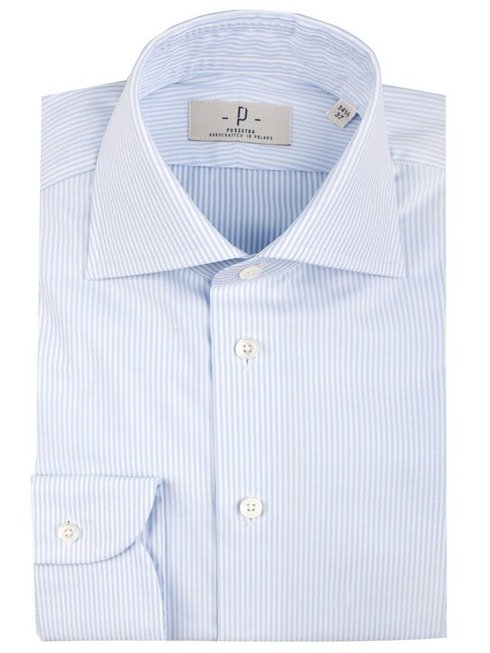Blue stripes shirt cutaway
