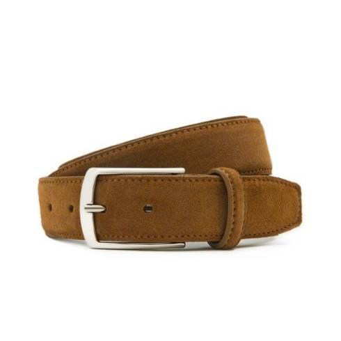 Cognac suede leather belt