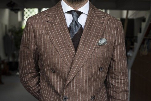 Double-breasted suit 'Positano'