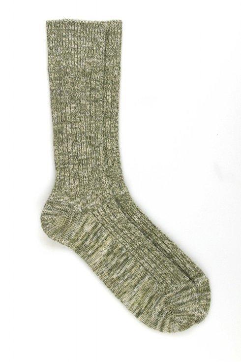 Green Ribbed Socks / Pedemeia
