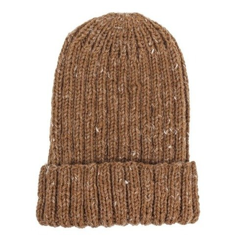 Hand-knit honey yarn beanie