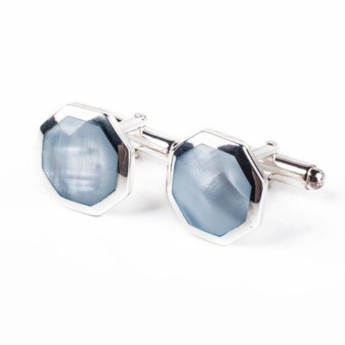 MOTHER OF PEARL SOLID SILVER CUFFLINKS