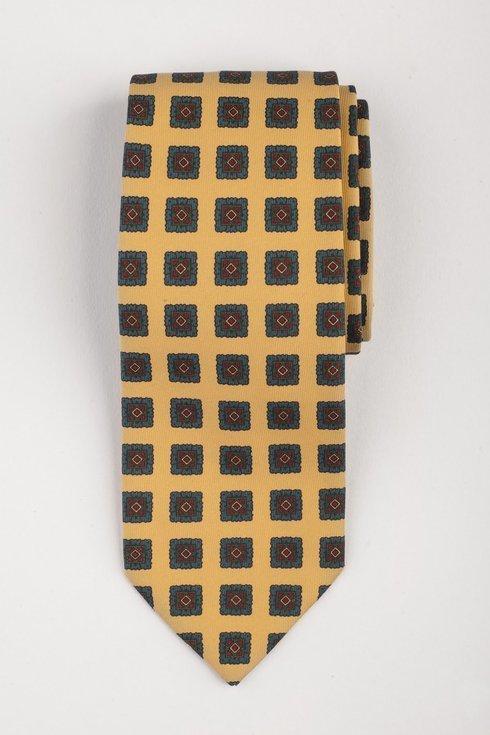 Macclesfield tie yellow