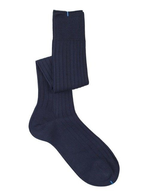Over the calf socks navy