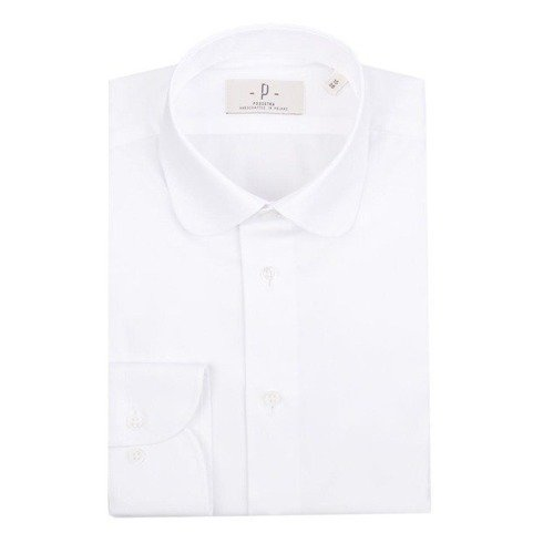 Oxford white shirt with round collar