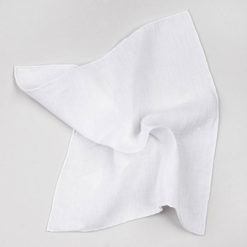 POCKET SQUARE LINEN WHITE