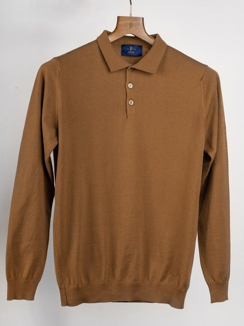 Polo spring sweater, hazel-brown