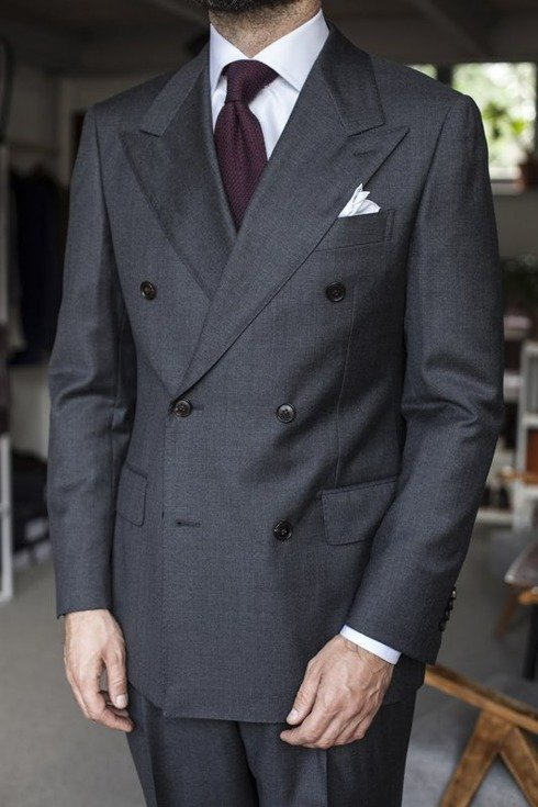 Preorder: 'Henry' classic double breasted grey suit