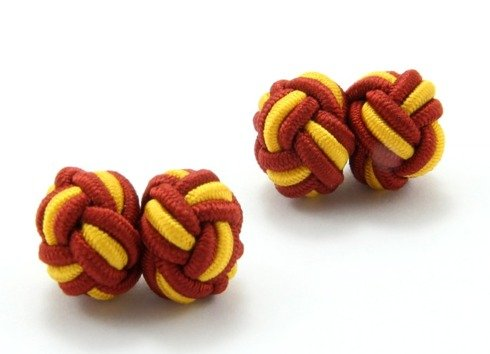Silk knots red and yellow
