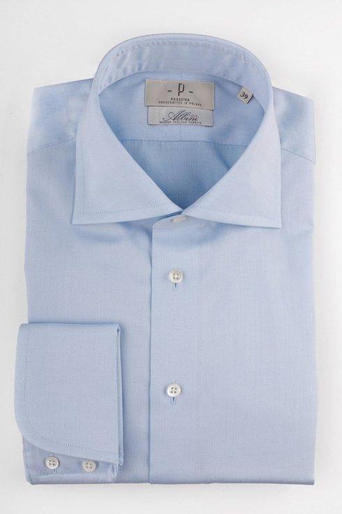 Sky blue portofino cufs Albini shirt