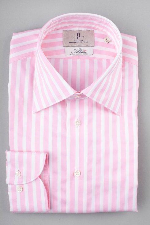 Striped shirt with long collar collar Albini