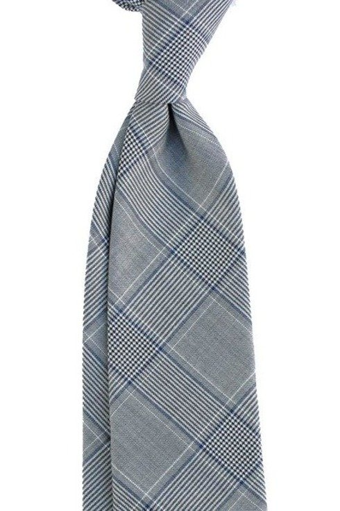UNTIPPED WOOLEN  TIE Prince of Wales Check