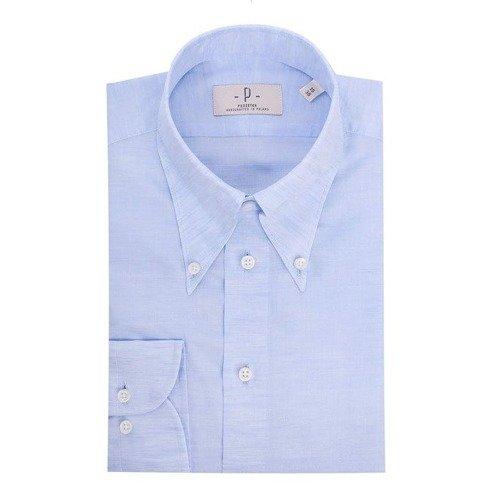 blue linen&cotton OCBD shirt