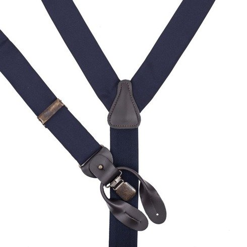 blue navy Macclesfield silk BRACES
