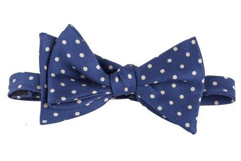 blue polka dots Macclesfield bow tie