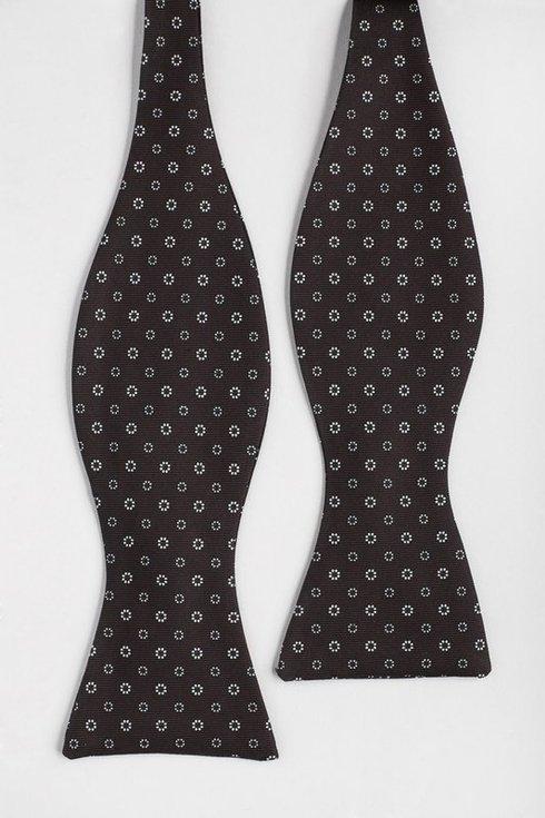 brown Macclesfield bow tie