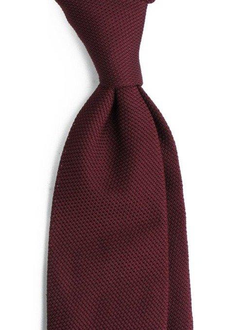 burgundy grenadine tie (garza fina)