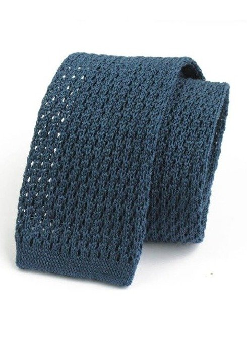 cotton BLUE MARINE knitted tie
