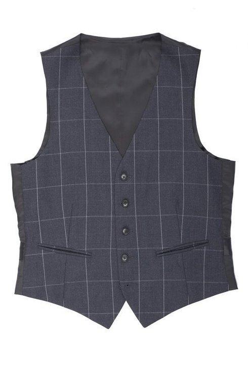dark grey worsted wool waistcoat