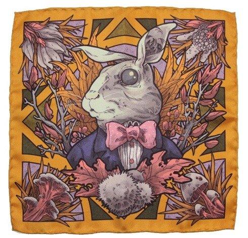 """hare"" pocket square"