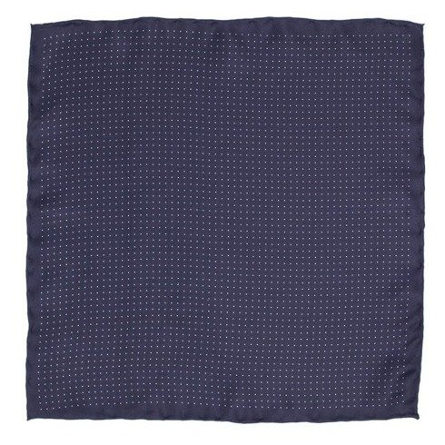 navy pocket square polka dots