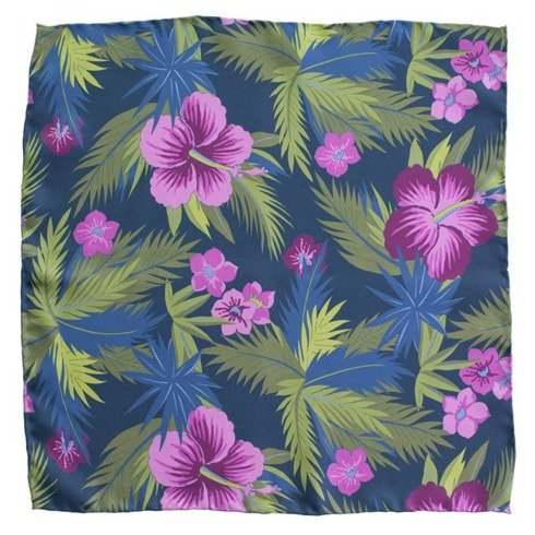 pocket square floral 40 cm x 40 cm