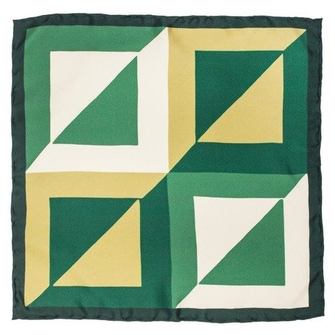 pocket square green squares