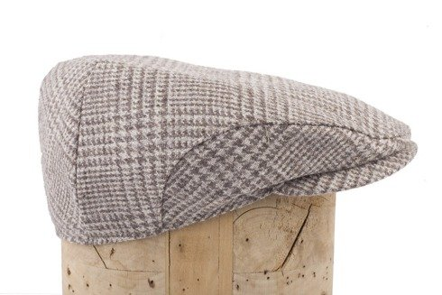 prince wales flat cap with ear flaps Marling & Evans undyed wool