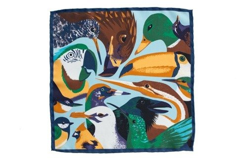 silk bird pocket square
