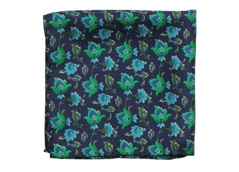 silk pocket square flower