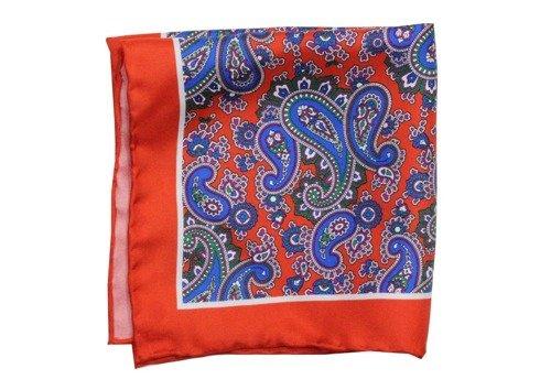 silk pocket square paisley