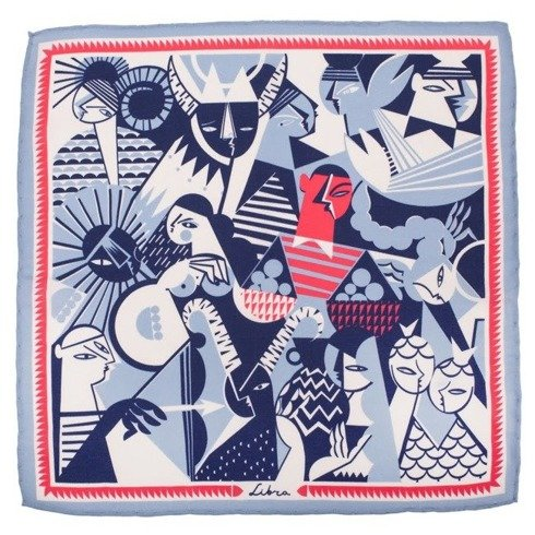 silk pocket square zodiac Libra