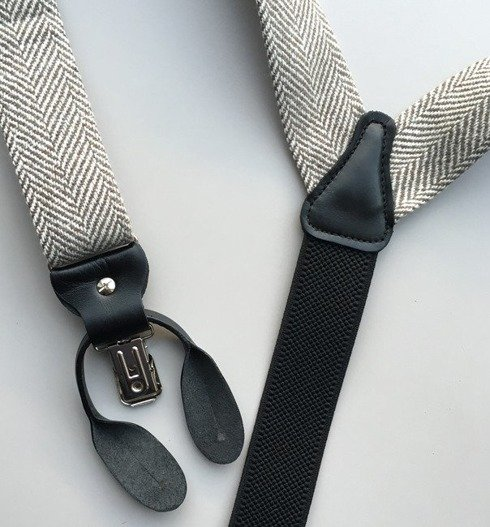 tweed BRACES 3,5 CM CLIPS & BUTTONS
