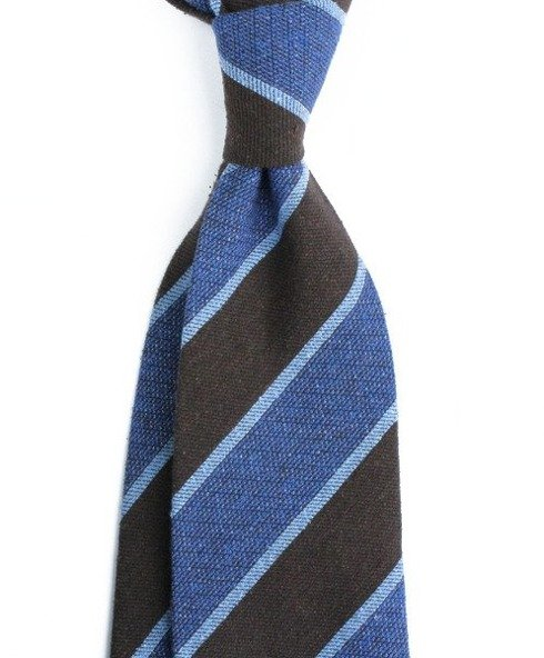 untipped raw silk TIE