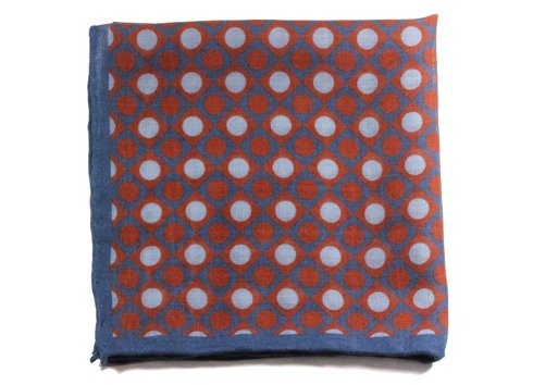 wool & silk geometric pocket square