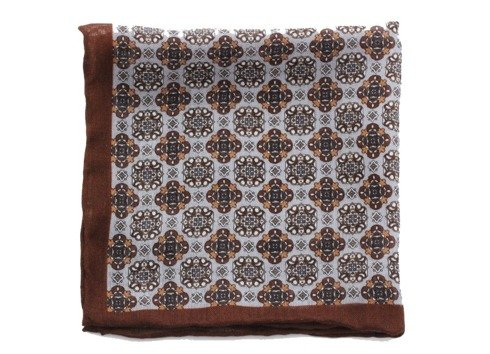 wool & silk medallion pocket square