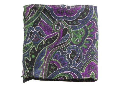 wool & silk paisley pocket square