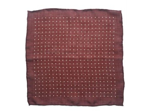 wool & silk polka dots pocket square