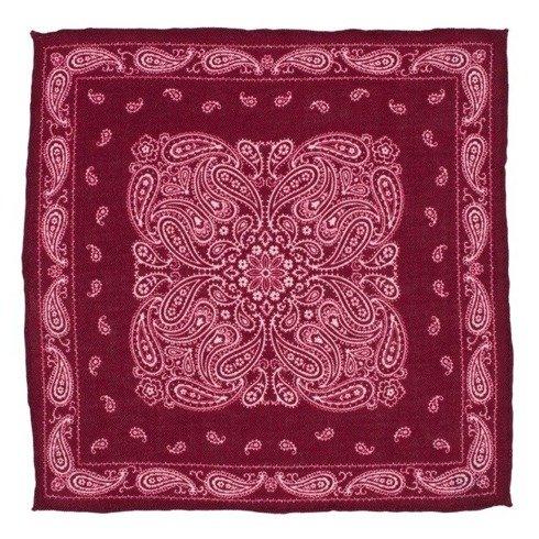 woolen paisley pocket square