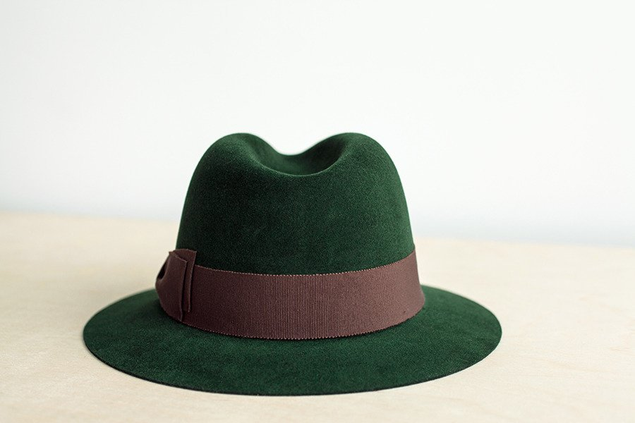 d0513685146e5 ... Fedora hat racing green Click to zoom ...