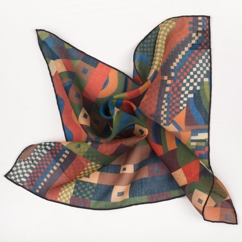 Abstract print pocket square 40 cm