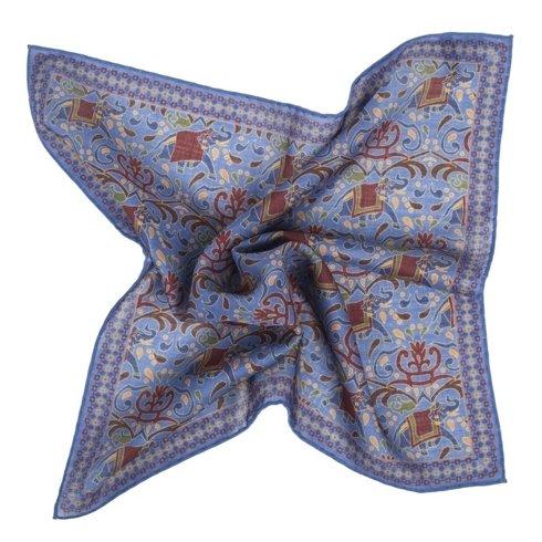 BLUE macclesfield pocket square